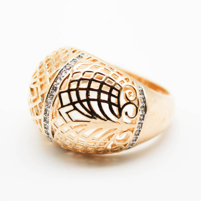 кольца мед золото