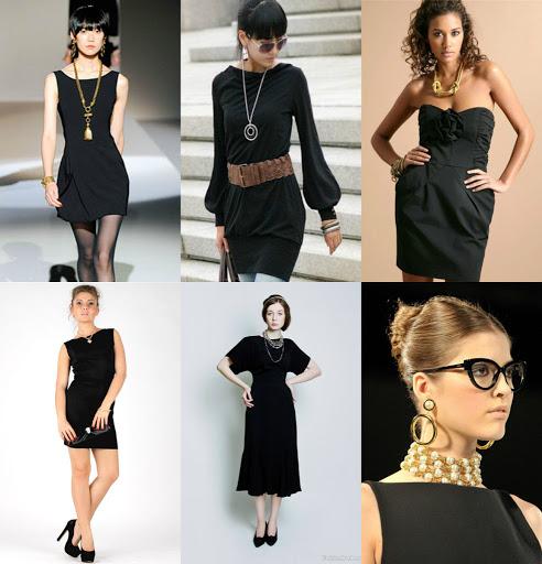 украшения к черному платью