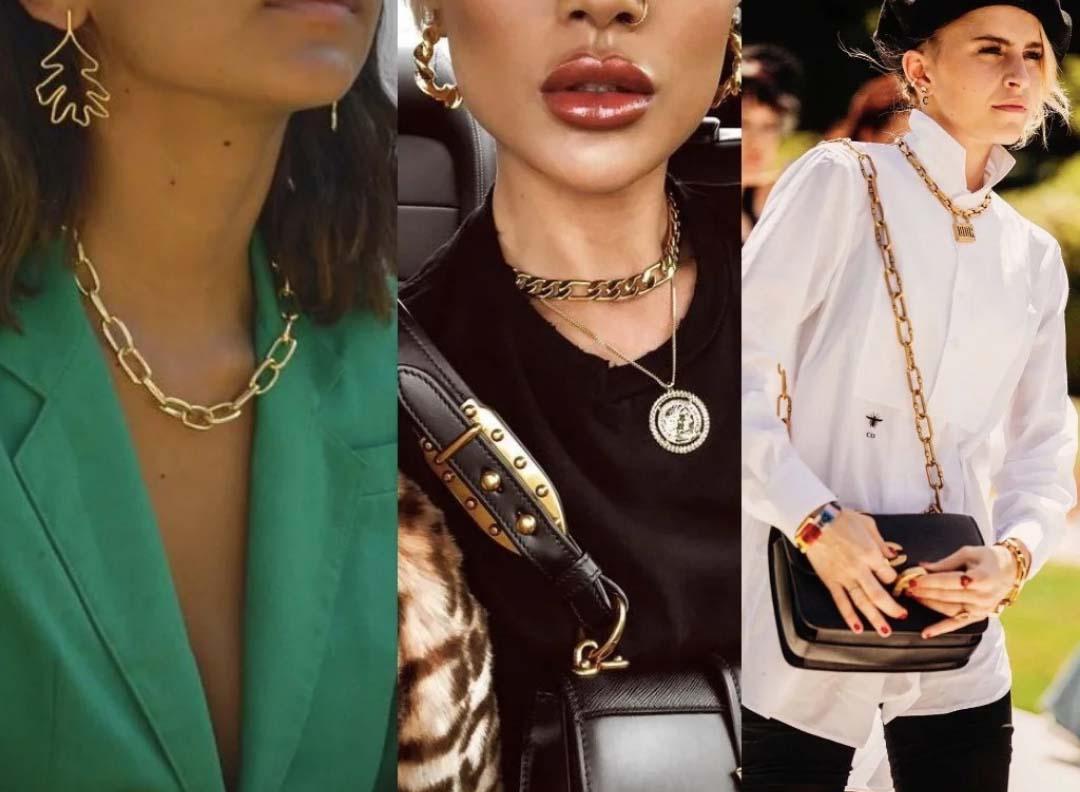 массивные украшения на шею с чем носить